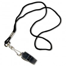 Black Pea-Less Coach Whistle and Lanyard